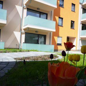 Haus Central Blumenbeet